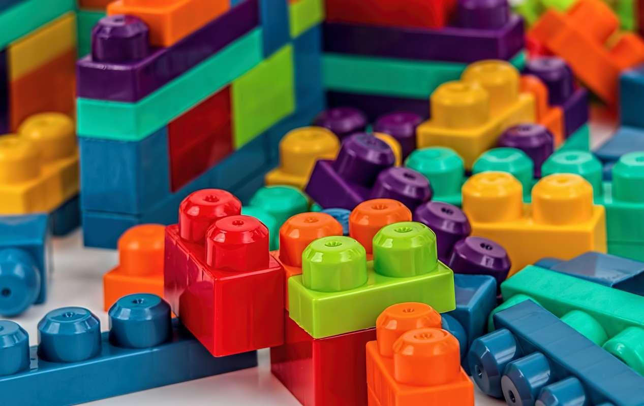 Piezas de Juguete de diferentes colores