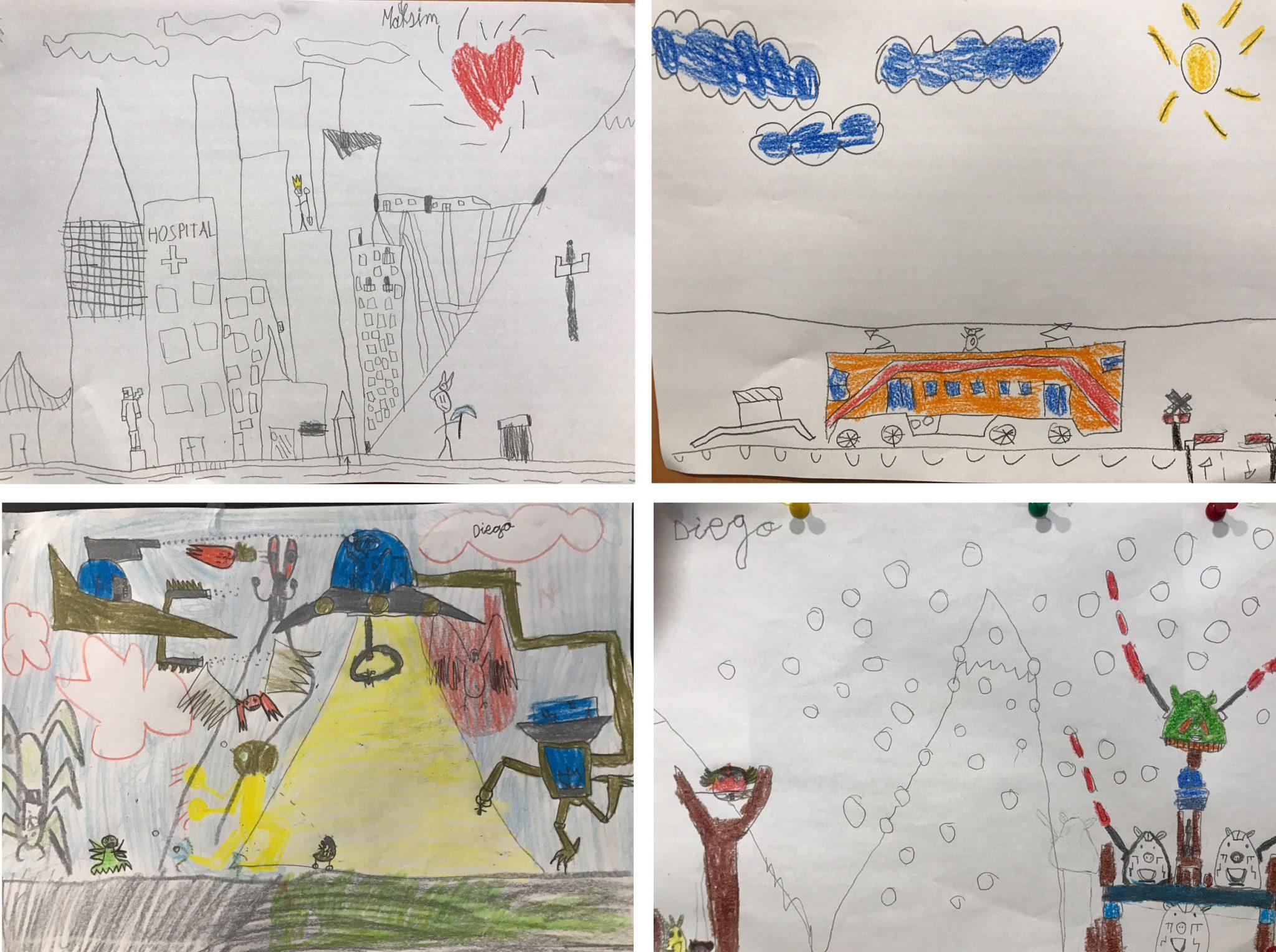 Dibujos niños autismo