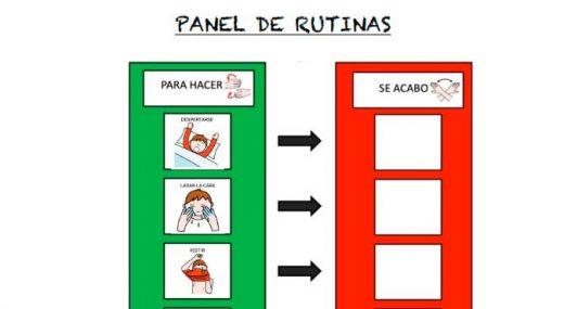 Panel de rutinas para niños con TEA